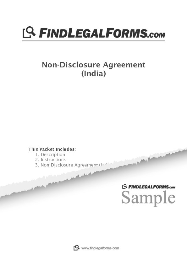Non Disclosure Agreement India Sample