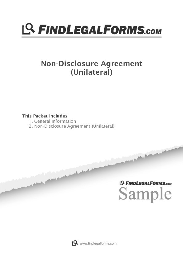 Unilateral Non Disclosure Agreement India Sample